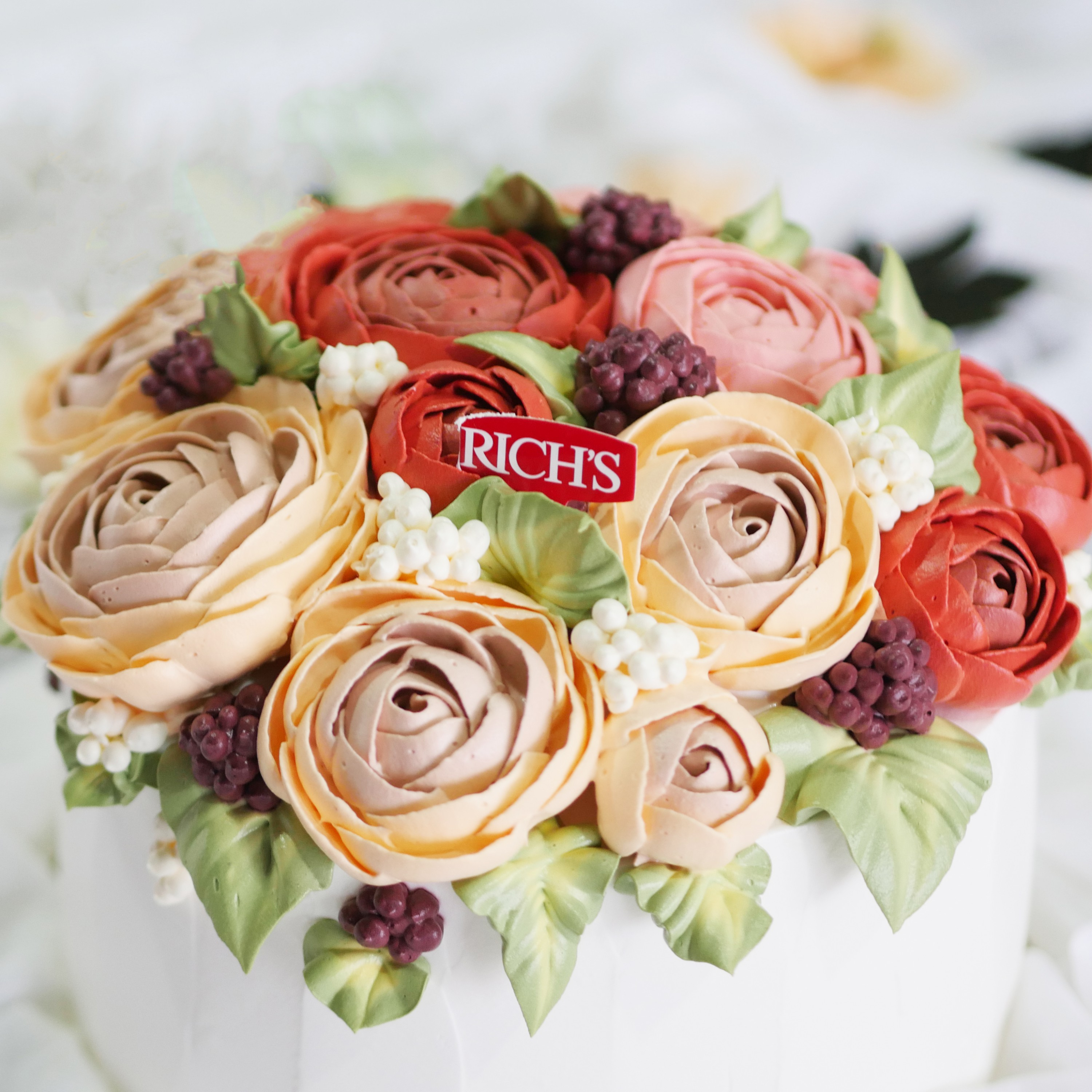 Korean flower cake (1)